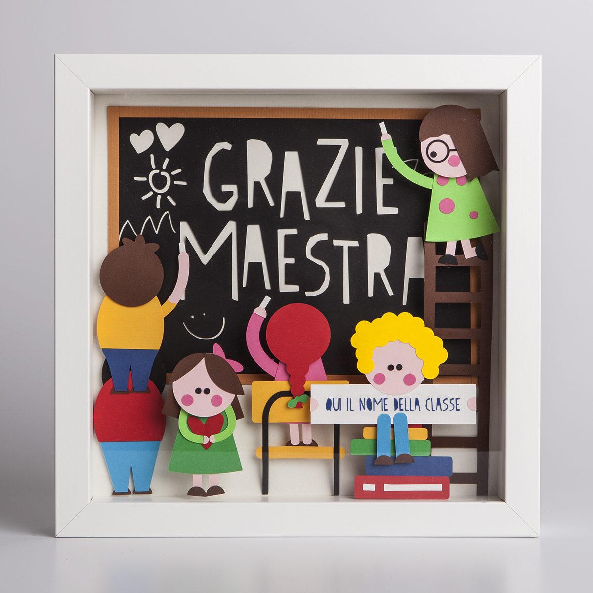 5e7afba58 Quadretto 3d Grazie Maestra - Ovotondo